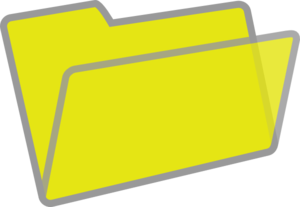yellow and grey folder clip art at clker com vector clip art rh clker com folder clip art free folder clipart free