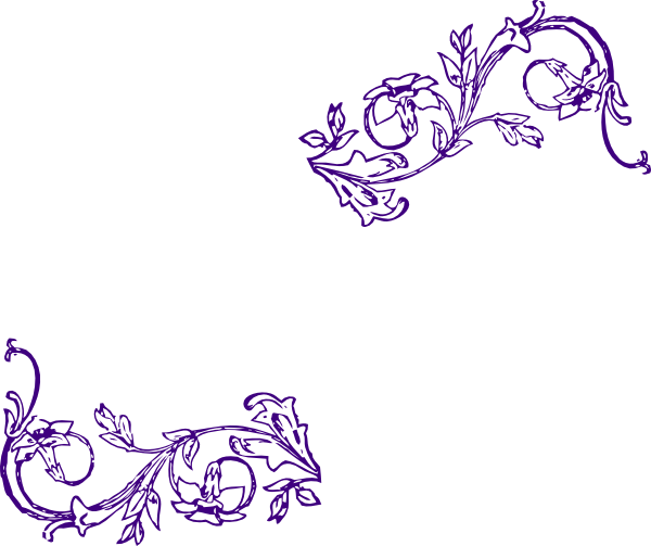 Purple Flower Frame Edit Clip Art At Clker.com
