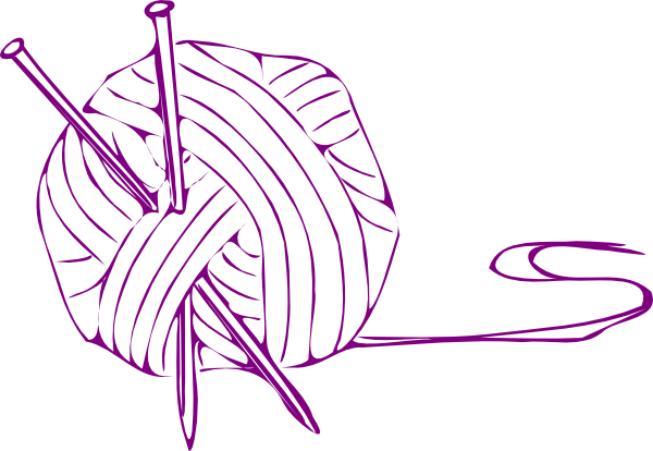 Yarn Ball Purple Small Clip Art at Clker.com - vector clip ...