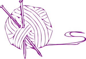 Yarn Ball Purple Small Clip Art