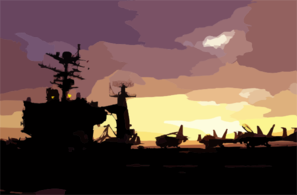 The Sun Sets Over The Flight Deck Of Uss John C. Stennis (cvn 74) During A Scheduled Underway Period Clip Art
