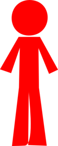 Person Stick Red Clip Art