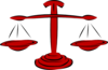Red Legal Scales Clip Art
