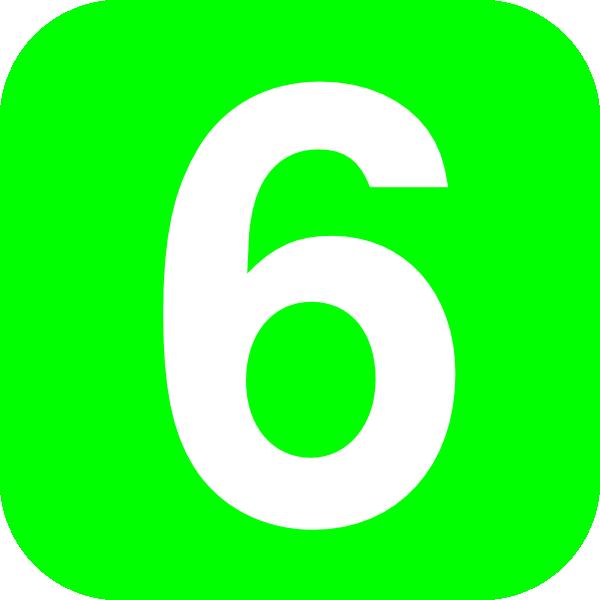 Number 6 Green Clip Art at Clker.com - vector clip art online, royalty ...