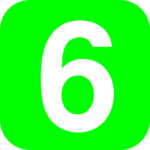 Number 6 Green Clip Art