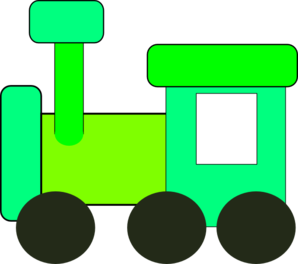 Green Train Clip Art