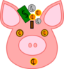 Money Pink Clip Art