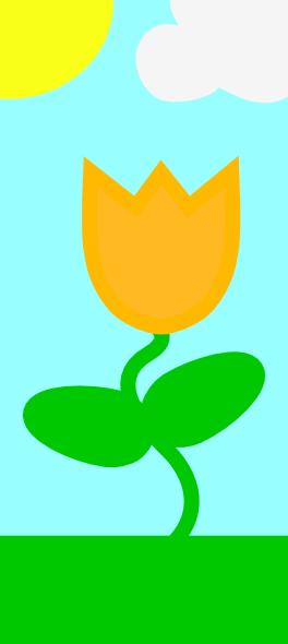 Flower Spring Scene Clip Art at Clker.com - vector clip ...