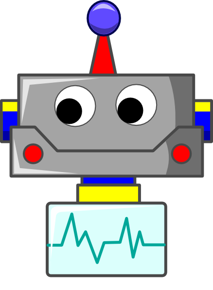 animated robot clipart - photo #18