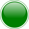 Glossy Green Circle Button Clip Art