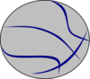 Grey Blue Basketball Clip Art