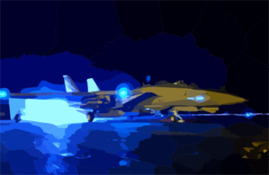 An F-14a Tomcat Ignites Its Afterburners Just Prior To Launching Off The Flight Deck Aboard Uss Kitty Hawk (cv 63). Clip Art