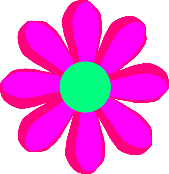 Flower Cartoon Pink Clip Art Vector Online Royalty Free