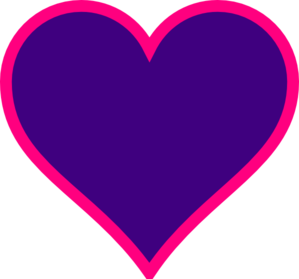 Purple And Pink Heart Clip Art