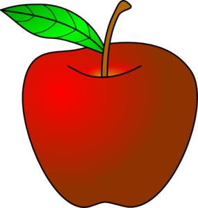 Apple Red Cartoon Clip Art