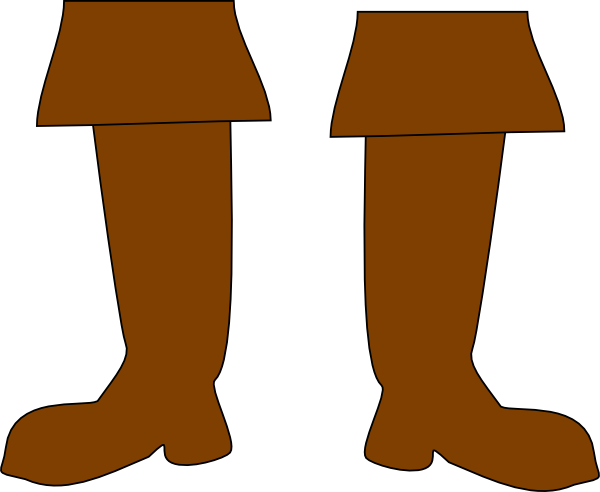 Brown Pirate Boots Clip Art at Clker.com - vector clip art online ...