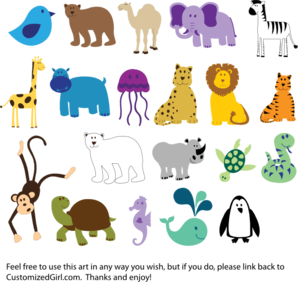 Cute Animals Clip Art at Clker.com - vector clip art ...