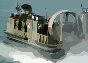 Assault Craft Unit Four (acu-4) Hopper 37 Departs Uss Kearsarge (lhd 3) To Pick Up Supplies. Clip Art