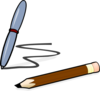 Short Pen & Pencil Clip Art