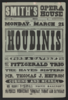 Return Of The Greatest Of All Magicians, The Houdinis, Harry, Bessie  Original Introducers Of Metamorphosis, Greatest And Finest Trunk Mystery The World Has Ever Seen, Challenge Hand-cuff Act, Open To The World .... Clip Art