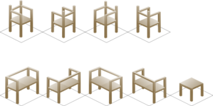 Isometric Chair Clip Art