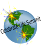 Celebrate Life Summit Earth Logo Clip Art