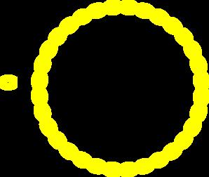 yellow circular border clip art at clker com vector clip art rh clker com yellow scalloped circle frame clip art Black Circle Clip Art