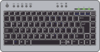 Computer Keyboard Black 01 Clip Art