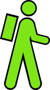Stick Man Green Clip Art