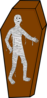 Mummy In A Coffin Clip Art