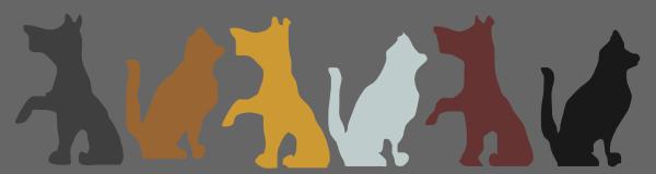 Dogs Cats Banner Grey Background B4b4b4 Clip Art At Clker Com Vector Clip Art Online Royalty Free Public Domain