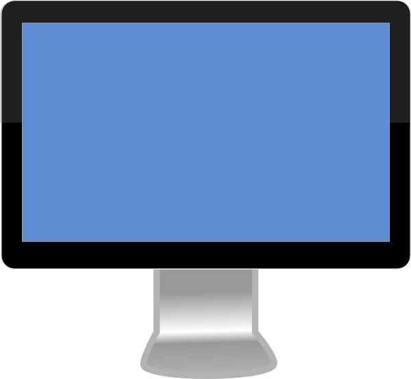 lcd monitor clipart - photo #8