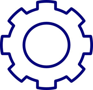 Blue Gear Clip Art at Clker.com - vector clip art online ...