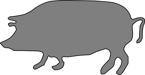 Gray, Pig, Silhouette Clip Art at Clker.com - vector clip ...