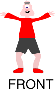 Tan Man In Red Shirt Clip Art