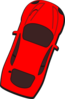 Red Car - Top View - 70 Clip Art
