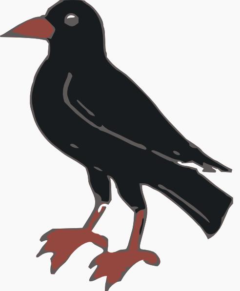 black crow clip art at clkercom vector clip art online