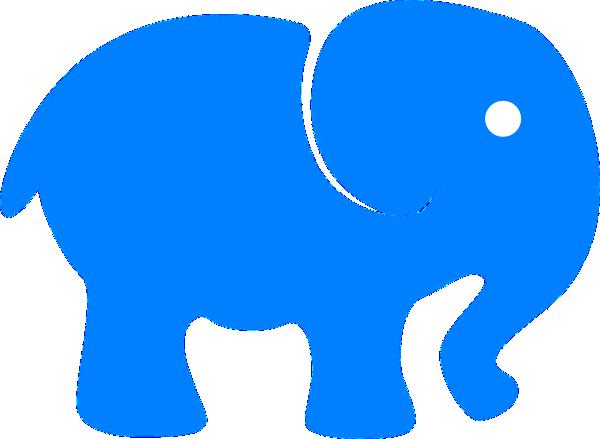 Baby Blue Elephant Clip Art at Clker.com - vector clip art ...