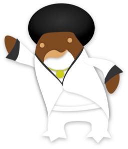 Disco Penguin Clip Art