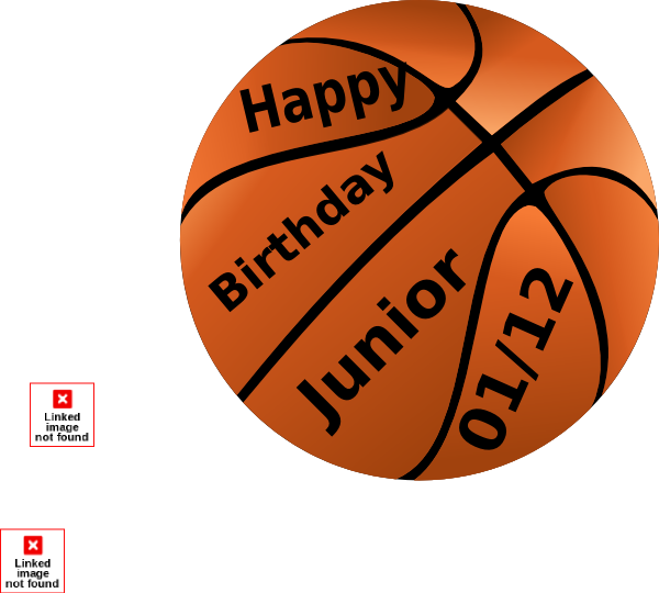 Happy Birthday Basketball Clip Art At Clker Com Vector