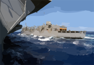 The Fast Combat Support Ship Uss Sacramento (aoe 1) Conducts Underway Replenishment (unrep) With The Uss Carl Vinson (cvn 70). Clip Art