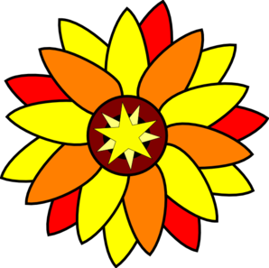 Sunflower Star Tatto Clip Art