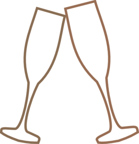 Champagne Glass Brown Clip Art at Clker.com - vector clip art online ...