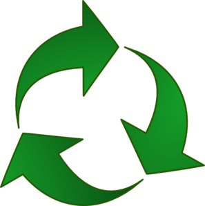 Green Recycle Arrows Clip Art