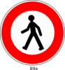 Crossing Sign Clip Art