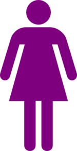 Purple Woman Figure Clip Art