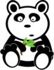 Panda With Bamboo Leaves Clip Art
