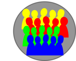 Smaller Crowd 3color Clip Art