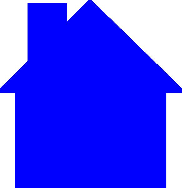 clip art blue house - photo #23