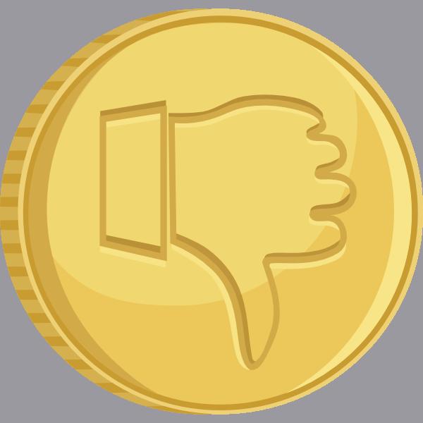 thumbs down gold coin clip art at clkercom vector clip